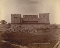 General view of the unfinished tomb of the late Nawab, Pathari, Bhopal